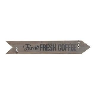 Farmhouse Wood and Iron Farm Fresh Coffee Arrow Wall Sign
