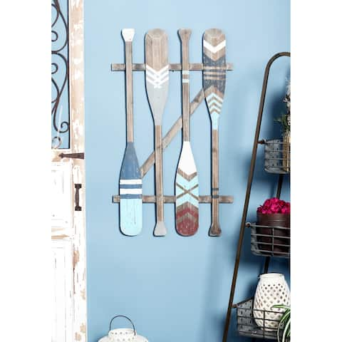 Coastal Wooden Oars Wall Art