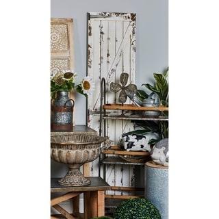 Rustic Fir Wood and Iron Door-Inspired Wall Panel