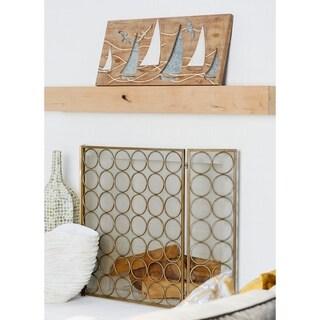 Coastal Sailing Boat Wooden Wall Panel