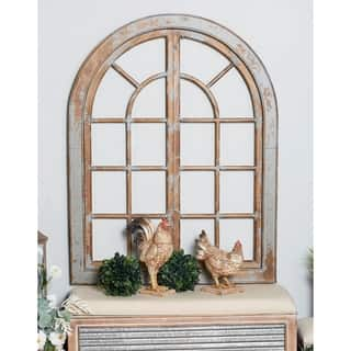 Traditional Arched Wooden Wall Decor