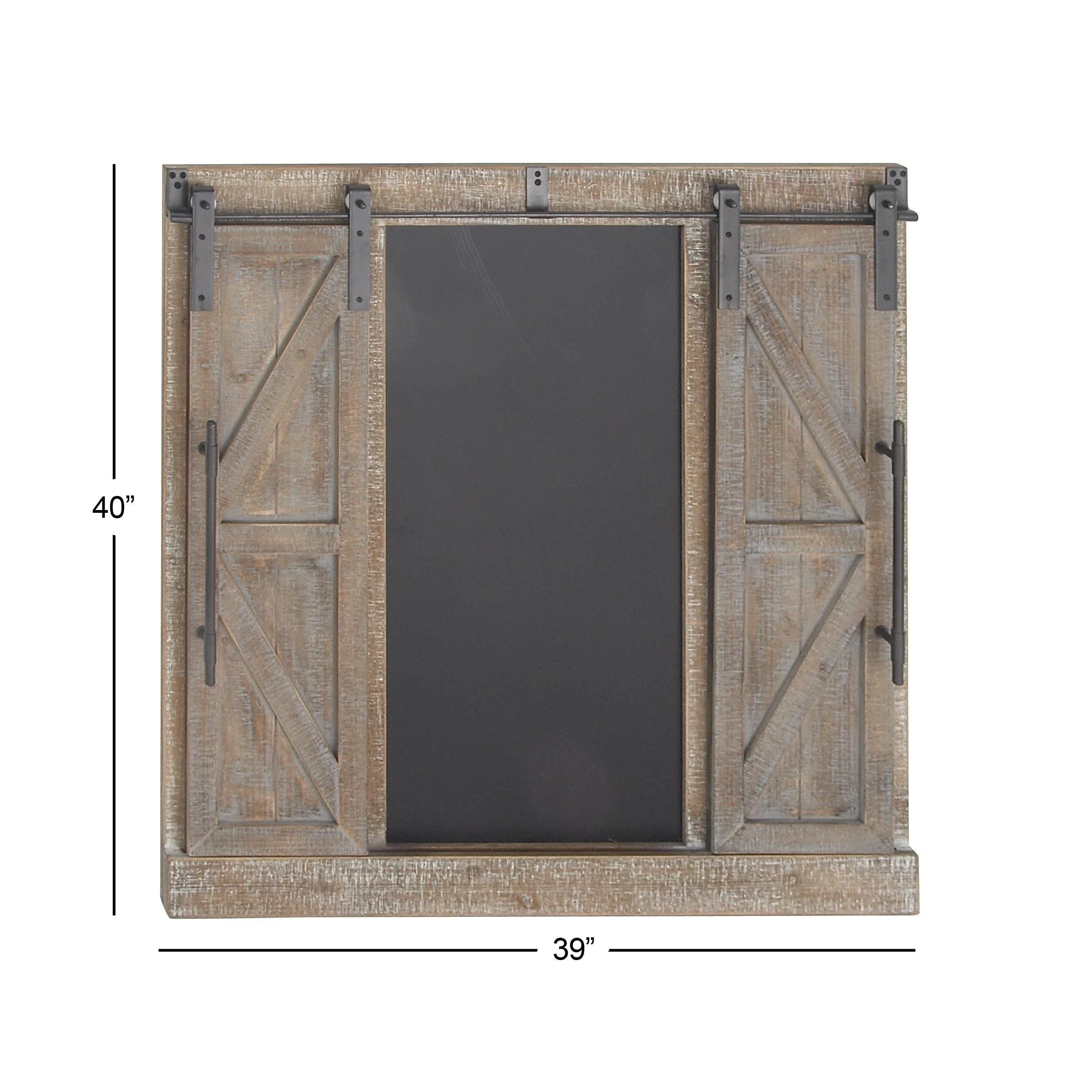 Wood And Iron Whitewashed Barn Door Wall Decor By Studio 350