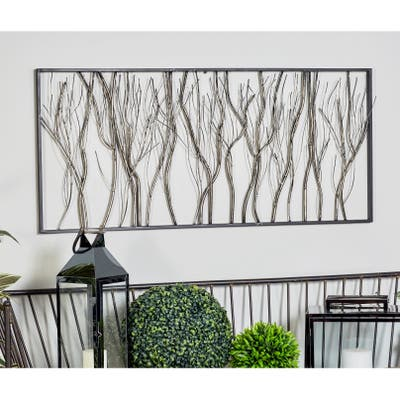 Natural 22 x 48 Inch Iron Twigs and Branches Wall Decor by Studio 350