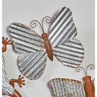 Rustic Iron Butterfly Wall Sculpture