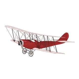 Industrial Iron Red Aircraft Wall Decor