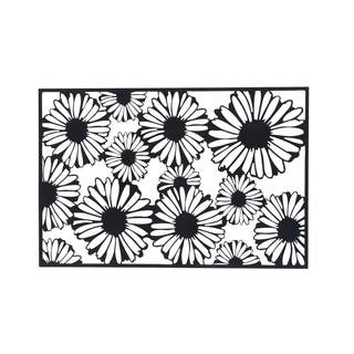 40 X 60 inch Modern Iron Black Sunflower Wall Decor