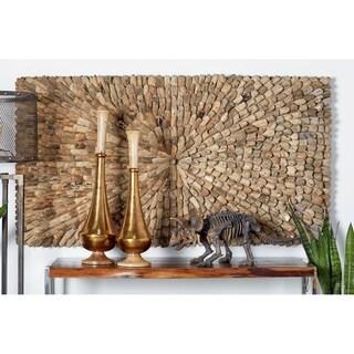32 X 59 inch Natural Driftwood Burst Style Rectangular Wall Panel
