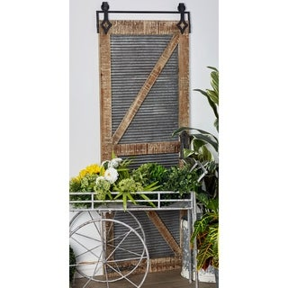 Traditional Iron and Metal Door-Inspired Wall Panel
