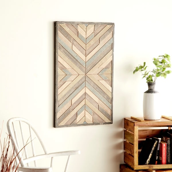 Rustic Wood Framed Chevron Wall Art by Studio 350. Opens flyout.