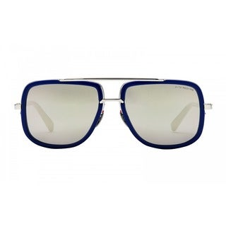 Dita Mach One DRX-2030J Titanium Blue Frame Silver Flash Lens Sunglasses