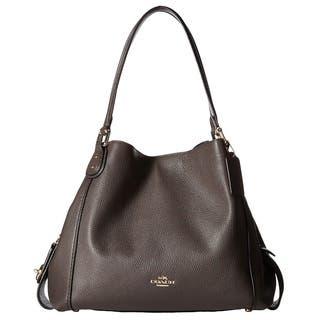 Coach Polished Pebbled Leather Light Gold Chestnut E 31 Shoulder Bag