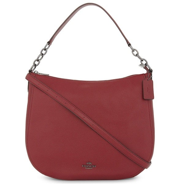 59cd4ea46689a Shop Coach Chelsea 32 Pebble Leather Hobo Handbag - Free Shipping ...