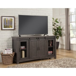 Martin Svensson Home Sierra Grey Metal Pine Wood 65-inch TV Stand