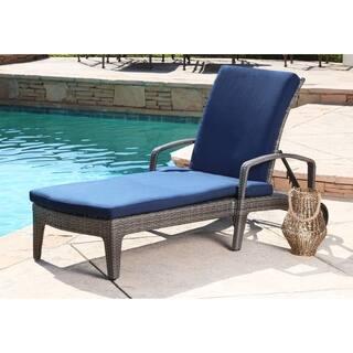 Abbyson Newport Outdoor Wicker Chaise Lounge Free