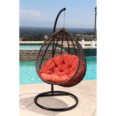 Abbyson Newport Outdoor Wicker Patio Swing Chair