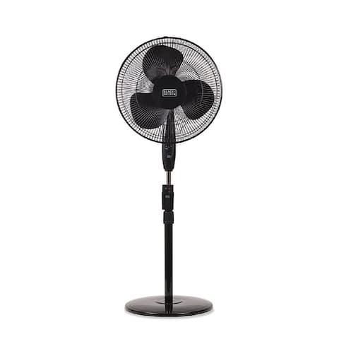 "Black & Decker 16"" Stand Fan with Remote, Black"