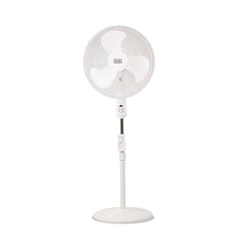 "Black & Decker 18"" Stand Fan with Remote, White"