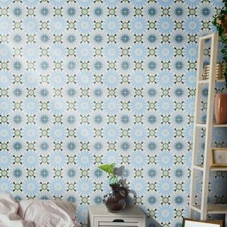 Handmade Alhambra Blue, Green, Black Tile, Pack of 12 (Morocco)