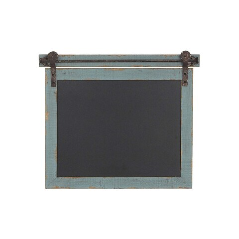 Gracewood Hollow Tapahonso Traditional Rectangular Wood and Iron Chalkboard