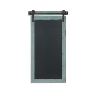 Gracewood Hollow Tapahonso Traditional Vertical Wood and Iron Chalkboard