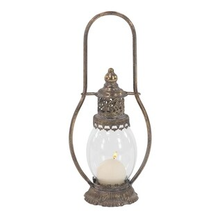 Maison Rouge Lamartine Traditional Metal and Glass Ornate Lantern