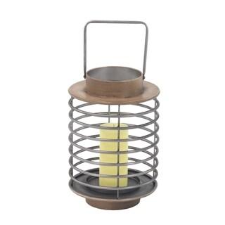 Carbon Loft Seesberger 16-inch Modern Iron Round Pillar Candle Lantern