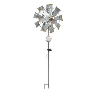 Rustic Iron Solar 8-Bladed Windmill