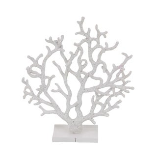 Havenside Home Buckroe Coastal Polystone White Branched Coral Sculpture