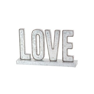 Modern Metal Love Led Tabletop Sign