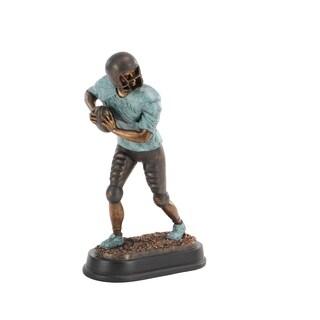 Modern Ceramic Standing Football Player Sculpture