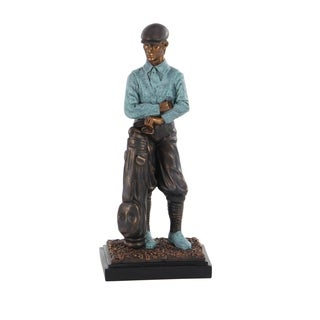 Traditional Resin Standing Golfer Sculpture