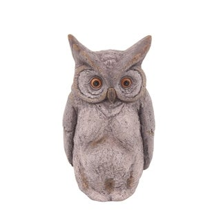 The Gray Barn Jartop Rustic Polystone Owl Sculpture
