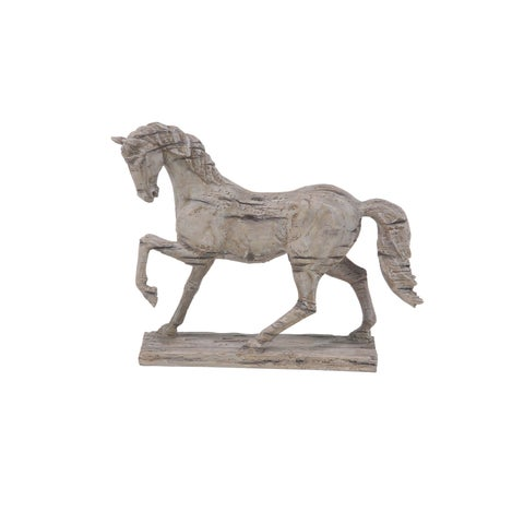 The Gray Barn Jartop Rustic Polystone Distressed Standing Horse Sculpture
