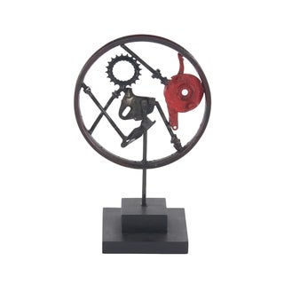 Oliver & James Buri Decorative Wheel Sculpture