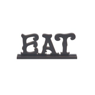Copper Grove Kitty Traditional Eat Wooden Sign