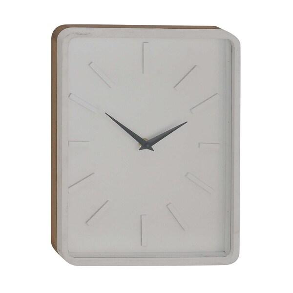 Carson Carrington Alavus Modern Rectangular Wooden Wall Clock