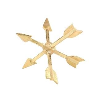 Modern Gold Aluminum Arrow Orb Decor