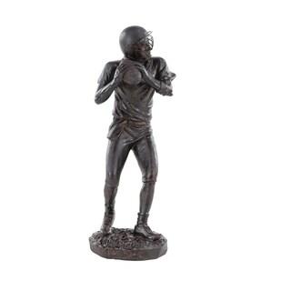 Copper Grove Chatfield Contemporary Polystone Football Player Sculpture
