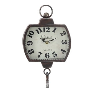 Havenside Home Manasota Rustic Iron and Wood Old Gate Wall Clock