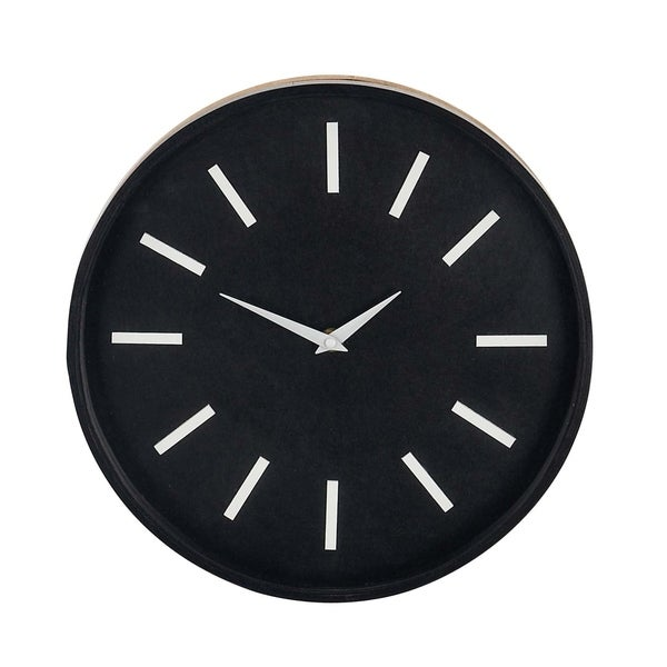 Carson Carrington Forsnes Modern Round Analog Wooden Wall Clock