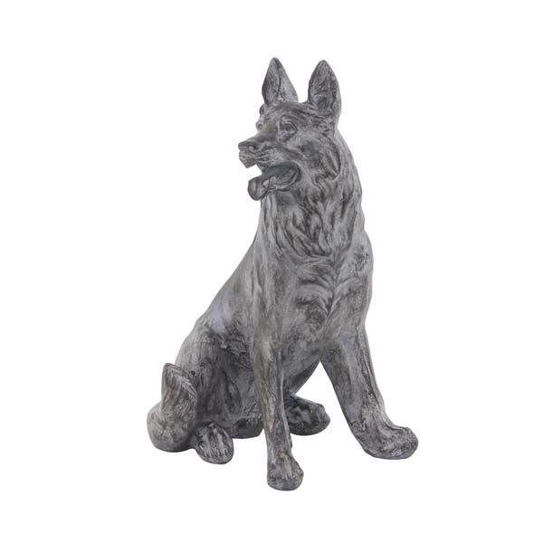 German Shepherd Dog Resin Sculpture
