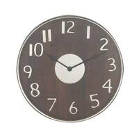 Strick & Bolton Buri Round Wooden Wall Clock