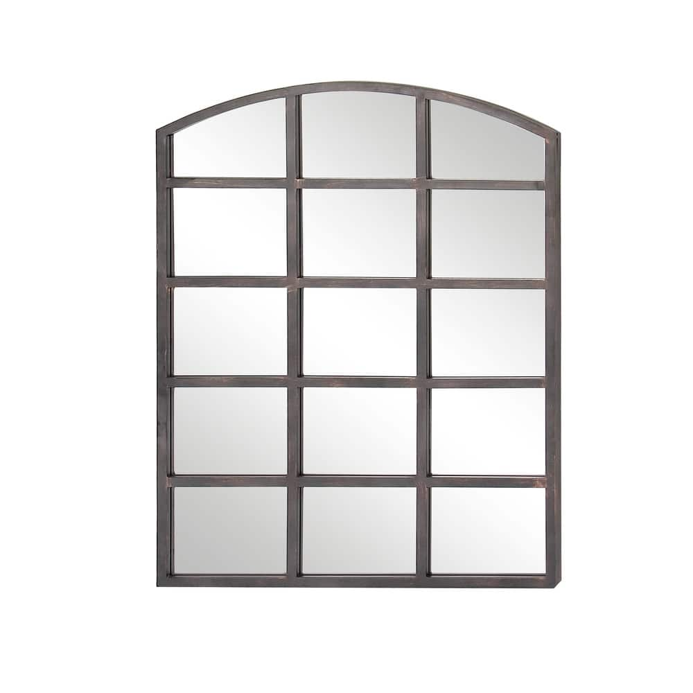 Shop Modern Gray Arched Paneled Wall Mirror By Studio 350 Grey On Sale Overstock 19565705