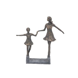 Maison Rouge Lamartine Contemporary Hand-In-Hand Sisters Resin Sculpture