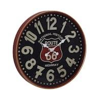 The Gray Barn Jartop Iron Route 66 Round Wall Clock