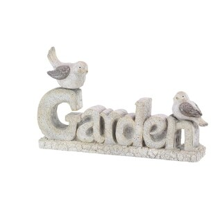 Traditional Resin Carved Garden Sign Sculpture
