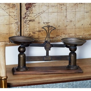Traditional Iron and Wood Vintage Scale Decor