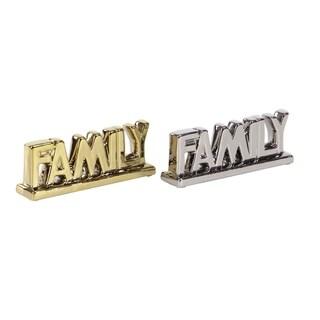 Set of 2 Modern Family Ceramic Decor
