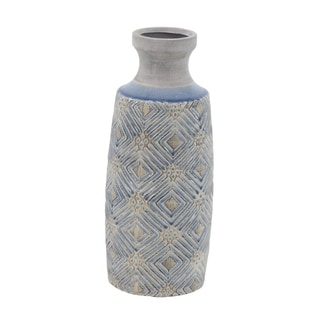 The Curated Nomad Jartop Ceramic Cylindrical Antique Vase