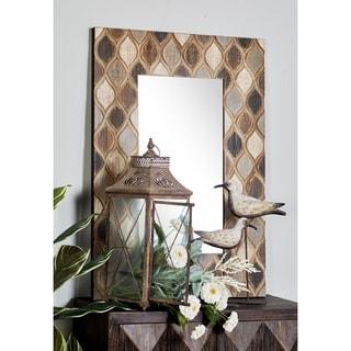 Farmhouse Rectangular Ogee Wooden Framed Wall Mirror by Studio 350 - Multi